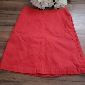 Boden A line Skirt orange size 6